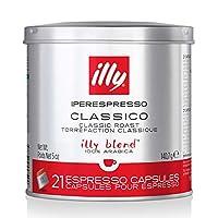 illy 意利 咖啡胶囊 经典意式浓咖(Iperespresso Classico),经典烘培,单罐装21粒
