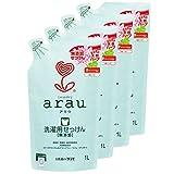 arau 洗衣液 天竺葵 替换装 1升×4个