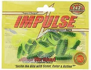 "Northland Tackle IBSG2-1015 Impulse Swim'N Grubs 14 条/袋式鱼饵,Parakeet,2"""