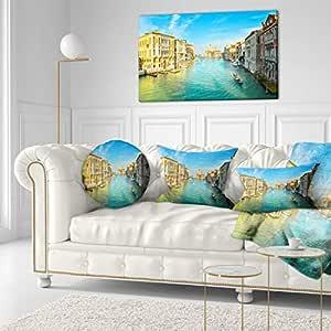 Designart 活跃晚宴威尼斯意大利特座帆布艺术墙照片艺术印刷品印刷品