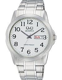 [西铁城 Q&Q]CITIZEN Q&Q 手表 Day&Date(星期&日期) 标准 模拟显示 银色 A142-214 男士
