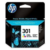 HP 301黑色原装打印机墨盒适用于惠普 Deskjet, HP ENVY, HP Photosmart Dreifarbig Standard Cyan/Magenta / Yellow