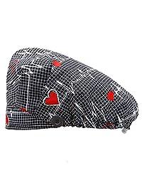BIZAR 可调节工作帽带纽扣和吸汗带,多色弹性蓬松帽子,男女皆宜