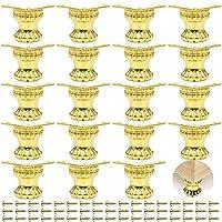 PGMJ 20 件珠宝盒腿复古设计装饰腿,木质盒腿五金件用于复古木箱、橱柜、珠宝盒、礼品盒、酒盒、工具箱 (K45_S)
