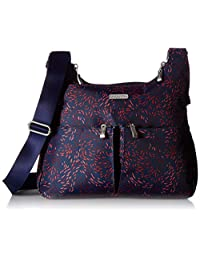 Baggallini Cross Over Crossbody with Rfid, Firework Print, One Size