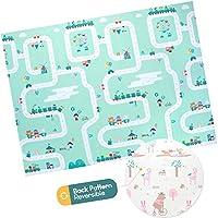 婴儿泡沫游戏垫 - 可折叠、防水、双面儿童游戏垫