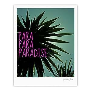 Kess InHouse Nika Martinez 异域风情天堂画廊艺术印刷品,40.64 x 50.8 厘米