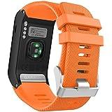 MoKo GARMIN 佳明 Vivoactive HR手表表带 手环腕带 适配Garmin vivoactive HR光学心率时尚腕表运动软硅胶表带 橙色