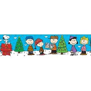 Eureka Peanuts Gang Christmas Deco Trim, Set of 12 Reusable Strips