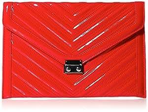 BCBGeneration 女式 CHEVRON 手拿信封包 NVJ525GN-616 红色 中号(亚马逊进口直采,美国品牌)