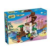 UNICO plus 维尼高布鲁斯 拼插玩具 海盗系列 瞭望台 18个月-5岁 大颗粒兼容 8533-0000