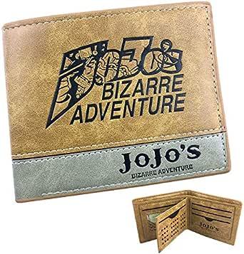 xcoser Jo's Bizarre 冒险钱包派生动动漫派生卡其色 PU 皮钱包配件