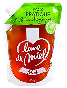 LUNE DE MIEL蜜月原味蜂蜜便利装450g(法国进口)