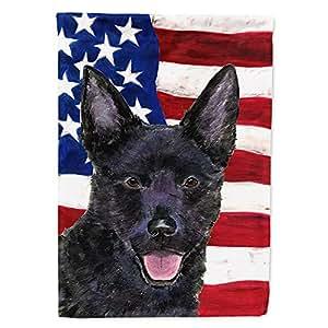 USA American Flag with Australian Kelpie Flag 多色 大
