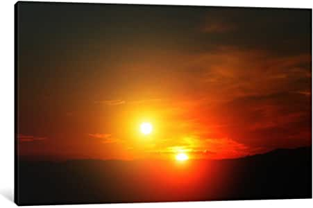 """iCanvasART Alien Sunset Canvas Print by Print Collection, 18 by 12""""/0.75"""" Deep"""