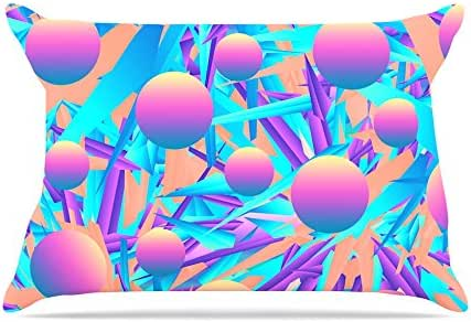 """Kess InHouse Danny Ivan """"Blind Face"""" Blue Pink Pillowcase, 36 by 20-Inch"""