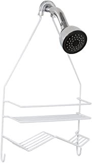 Zenna Home 7518W, Over-the-Showerhead Caddy, White