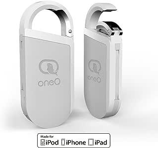oneq 闪电闪存盘 oneq 钥匙链3合1GB 存储*棒 lightning/usb OTG 连接器 with POWER STATION 适用于 IOS iphone ipad MAC PC White 32GB