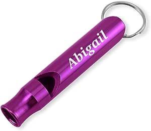 Dimension 9 激光雕刻阳极氧化Abigail 金属*/Survival 口哨带钥匙链