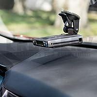 汽车雷达支架,Crossery 挡风玻璃和仪表板雷达探测器吸附支架,用于护送护照、Beltronics Vector & Rocky Mountain Phantom-T 雷达探测器,易于安装,可调节,黑色