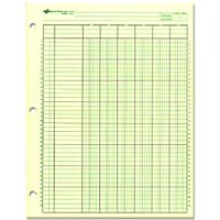 National Brand Analysis Pad, 6 Columns, Green Paper, 11 x 8.5 Inches, 50 Sheets (45606)