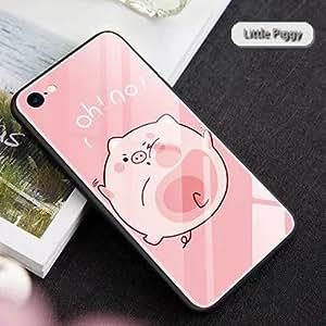 Chic-Mild 新款 iPhoneX/iPhone7/8 Plus 保护壳玻璃全覆盖钢化玻璃手机壳iPhone X iPhoneX Lazy Piggy