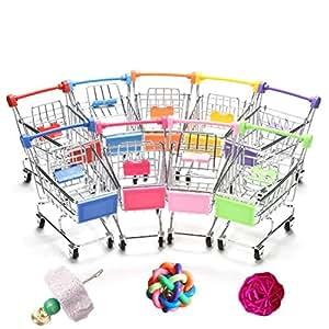 宠物猫鹦鹉玩具鸟超市购物车儿童成长盒趣味玩具小鸟仓 4 件装