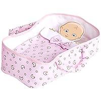 粉色娃娃玩具摩西篮布,28 x 15 x 6 (0122)
