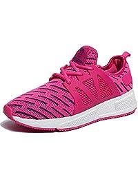 Camel 女式跑鞋轻便运动鞋网眼网球鞋锻炼运动健身 Rose Red 6 B(M) US