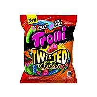 Trolli Twisted Sour Brite Crawlers 酸味扭扭爬虫软糖 4盎司/113克 挂钩包 (12 包)