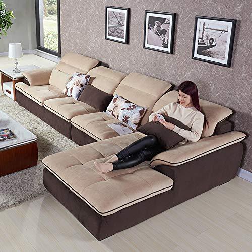 下单赠价值998元真皮圆凳1个ZUOYOU 左右 布沙发贵妃布艺沙发可拆洗现代客厅转角布沙发储物DZY3103 转二加休反向YR035-3漠上花开