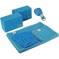 GO GO 主动 yoga 配件套装–包括2块瑜伽砖,1超细纤维防滑垫子毛巾72x 24,1超细纤维手巾24x 15,1瑜伽带,1件装 OF 瑜伽袜