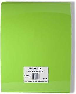 Grafix KSF50-G 8-1/2-Inch by 11-Inch Shrink Film, Green, 50-Pack