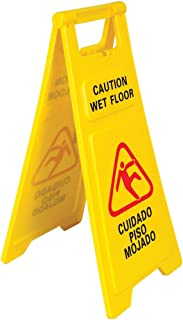 Wet Floor Caution Sign, 26-Inches Tall, Folding A-Frame, English & Spanish, Pack of 1