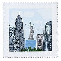 dooni Designs 都市设计–涂鸦 Vector NYC NEW YORK CITY 自由女神像数码插图–方块拼布