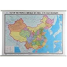 中华人民共和国地图(中英)
