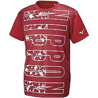 Mizuno 美津浓 排球服 绘图T恤 短袖 JAPAN图案 日本国家 图形 细长 V2MA9584