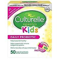 Culturelle 康萃樂 兒童每日益生菌包膳食補充劑| 幫助支持健康| 與您孩子的身體自然地一起工作| 50個單包