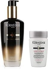 KERASTASE 卡诗 黑钻凝时香氛修护油120ml+头皮系列根源特护洗发水80ml 洗护套装(进)