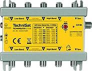 TechniSat TECHNIROUTER 5/1x16 從衛星(4 個衛星塊)分配到一條線束,適用于 16 個參與者,銀黃色
