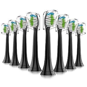 Sonicare 电动牙刷头,8 个替换刷头,适用于 Philips Sonicare 电动牙刷,8 个装
