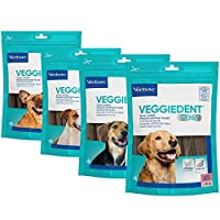 Virbac XS Veggiedent Fr3sh 狗狗咀嚼用品 15 咀嚼 - 超小,透明,男女皆宜