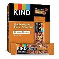KIND 能量棒 楓糖光澤山核桃&海鹽,無麩質,低糖,1.4盎司/約40克,12支
