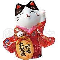 MITOUKAN 日语 KIMONO Maneki Neko Beckoning 猫幸运猫 粉红色 AM-Y7417