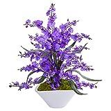 Nearly Natural 1736-PP 舞蹈女士兰花人造白色花瓶丝绸安排,紫色