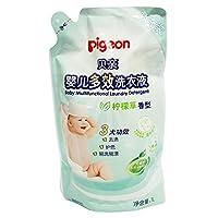 PIGEON 贝亲 婴儿多效洗衣液(柠檬草香)1L,补充装 MA58(新老包装随机)