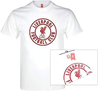 利物浦足球俱乐部男士 LFC 白色英国 T 恤