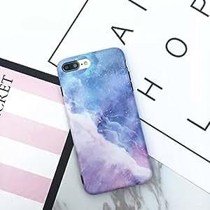 iPhone 8 / iPhone 7 手机壳防刮独角兽蓝色大理石星夜图案印花TPU修身女孩手机壳,适用于 4.7 英寸 iPhone iPhone 7/8 Starry iPhone 7/8