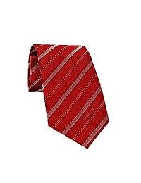 Versace Men's Striped Woven Silk Necktie