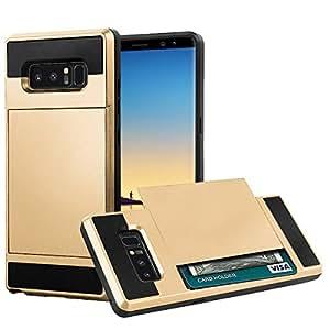 Galaxy Note 8 手机壳,Mignova 坚固保护卡夹减震防摔硬质 PC 外壳适用于三星 Galaxy Note 8CRH-GN8-004 金色